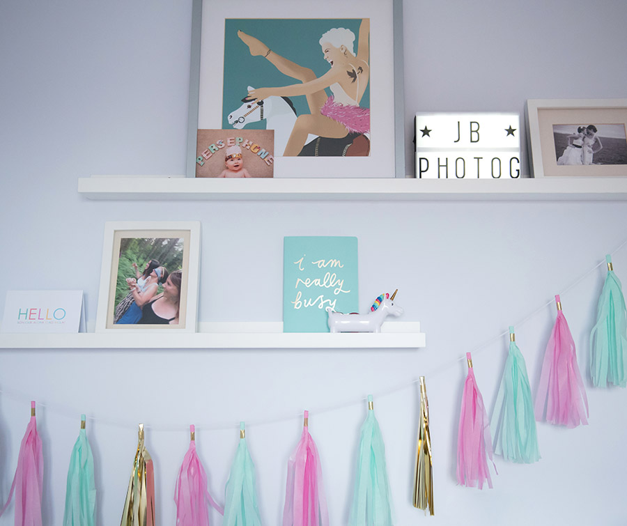 displaying your family photography picture ledge