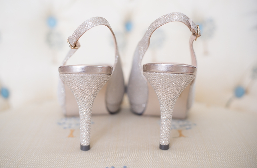 bride shoes glittery
