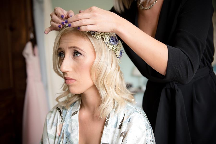 bridal dried floral crown
