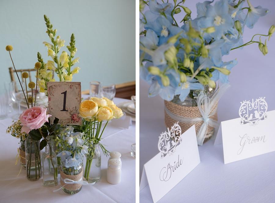 jam jar wedding florals