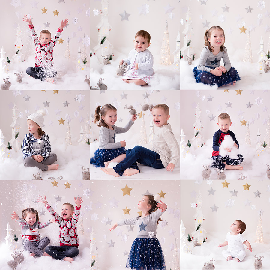 Winter mini child portrait photography