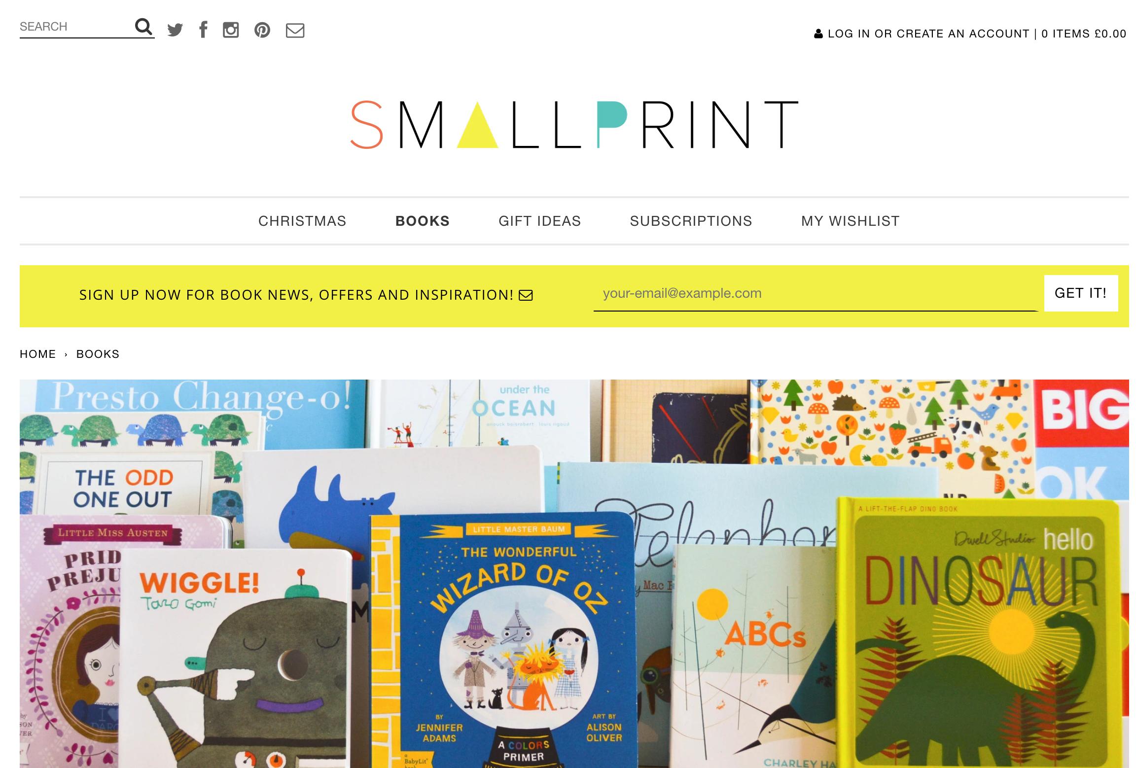 small print books
